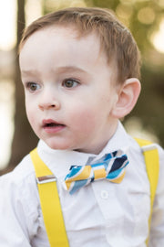 Sunshine and Blue Stripe Bow Tie (Boys and Men)