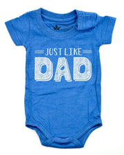 Just Like Dad Royal Blue Crew Neck Bodysuit