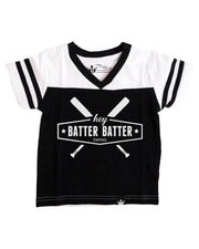 Hey Batter Batter Black Jersey Tee