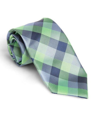 Oxford and Lime Check Standard Necktie (Adult and Youth)