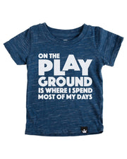 On the Playground Navy Slub Knit Crew Neck Tee