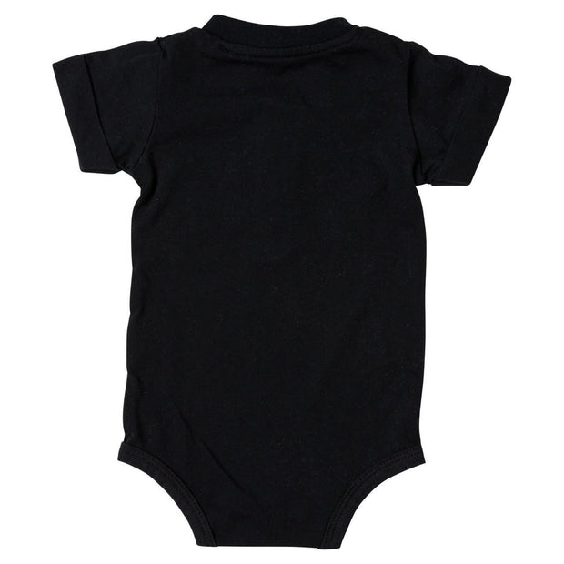 Black Short Sleeve Henley Bodysuit