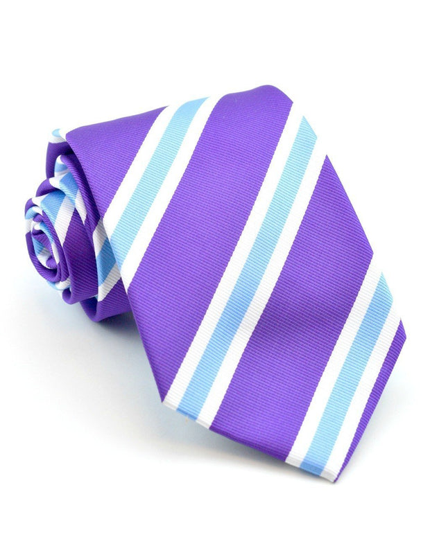 Violet and Blue Stripe Standard Necktie