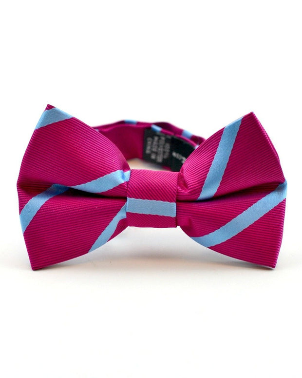 Watermelon and Blue Stripe Bow Tie (Boys and Men)