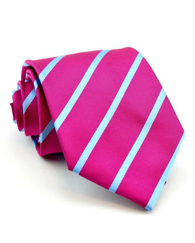 Watermelon and Blue Stripe Standard Necktie