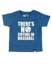 No Crying In Baseball Navy Crew Tee