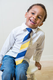 Yellow and Navy Stripe Tie