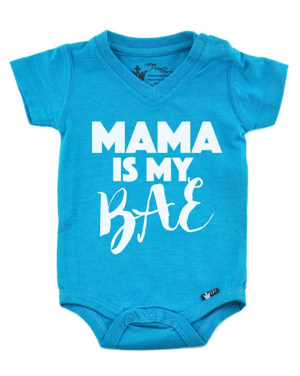 Mama is My BAE Peacock V-Neck Bodysuit