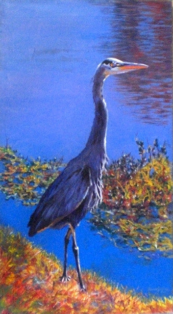 """Blue Heron"" SOLD"