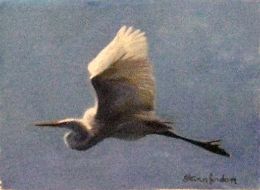 'Egret in Flight""
