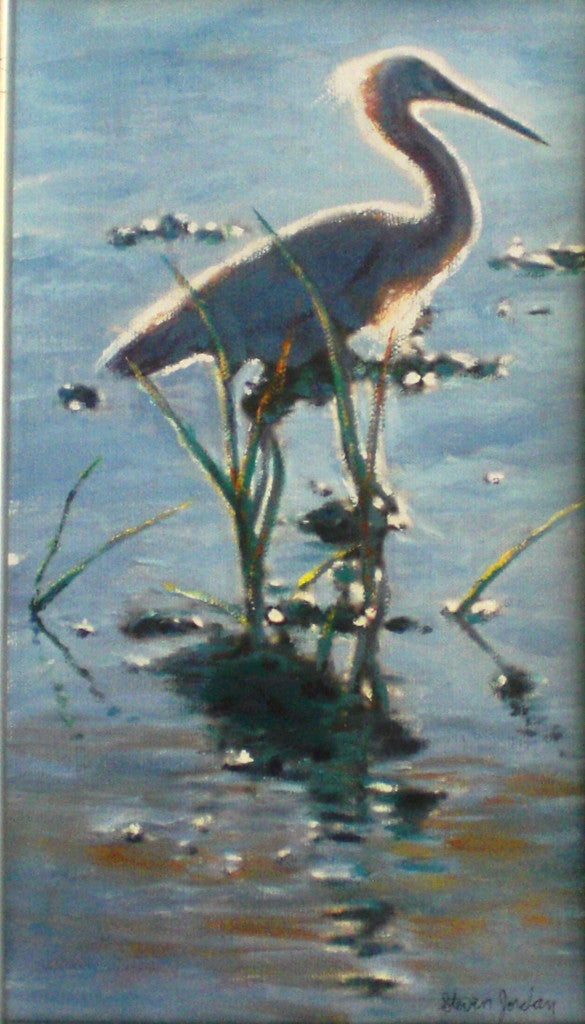 """Egret With Back Lighting"" SOLD"