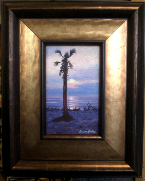 Beach Sunrise With Palmetto SOLD