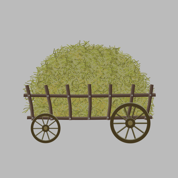 Hay Wagon Swaddle Blanket