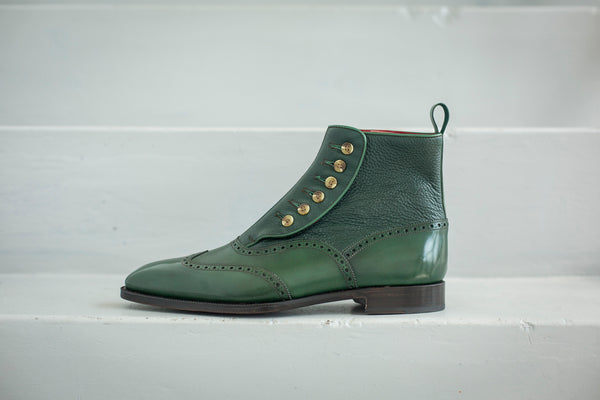 J. FitzPatrick Green Button Boot Grandview