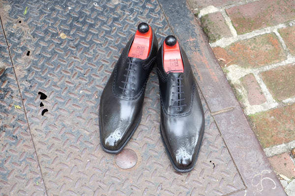 Keyport - MTO - Dark Green Museum Calf / Black Calf Saddle - MGF Last - Single Leather Sole