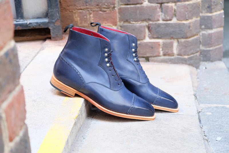 Jimmy - MTO - Navy Calf - MGF Last - Natural Single Leather Sole