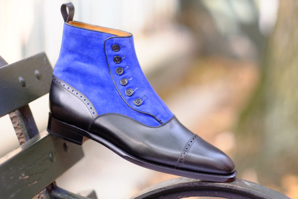 Blue Ridge - Black Calf / Vivid Blue Suede - PRE SALE