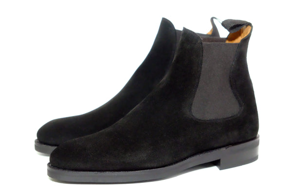 Alki - MTO - Black Suede - NGT Last - Double City Rubber Sole