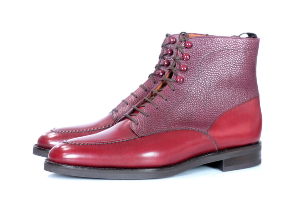 Bremerton - Burgundy Calf / Burgundy Scotch Grain
