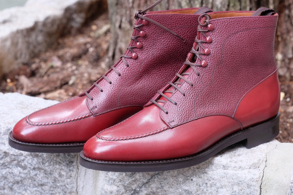 Bremerton - Burgundy Calf / Burgundy Scotch Grain - PRE SALE