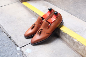 Brier - MTO - Tan Soft Grain - LPB Last - Single Leather Sole