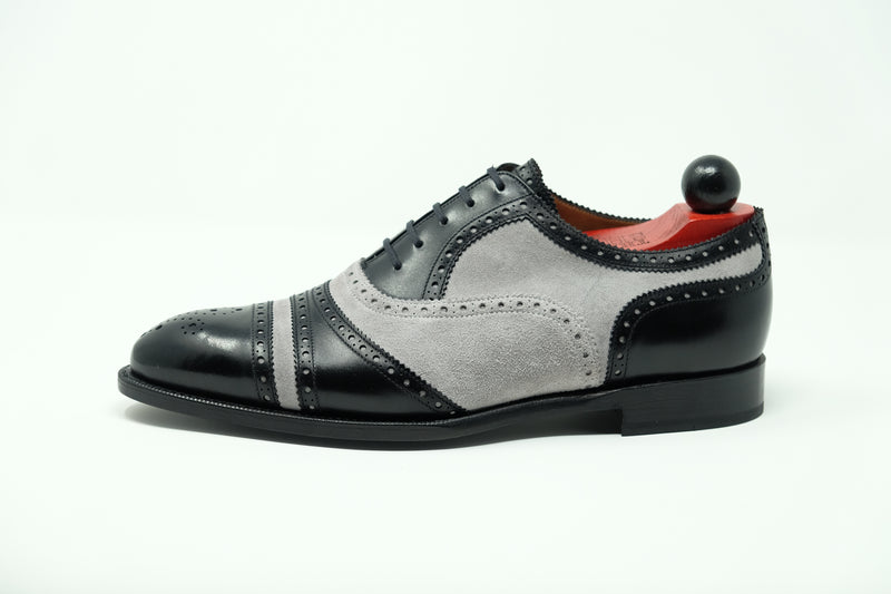 Phillips - MTO - Black Calf / Light Grey Suede - NGT Last - Single Leather Sole