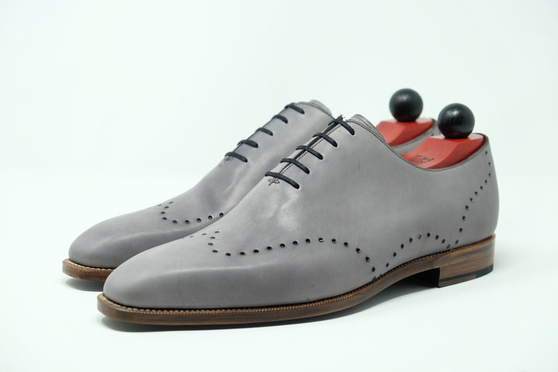 Tony - MTO - Unfinished Grey Calf - LPB Last - Natural Single Leather Sole