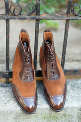 Pinehurst - Dark Brown Marble Patina / Snuff Suede
