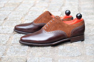 Greenwood - MTO - Dark Brown Museum Calf / Dark Brown Suede - JKF Last - Single Leather Sole