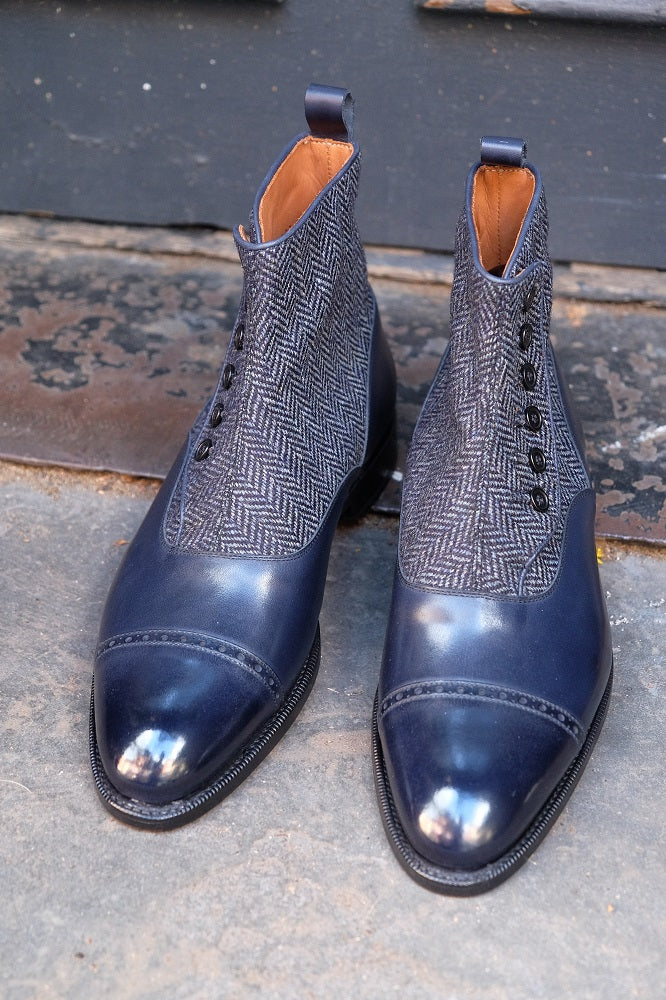 Carkeek II - Midnight Calf / Blue Tweed