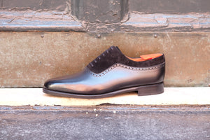 Broadmoor - MTO - Black Calf / Black Suede - Single Leather Sole