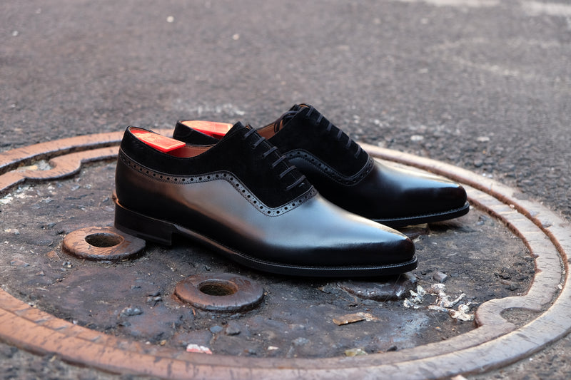 Broadmoor - MTO - Black Calf / Black Suede - JKF Last - Single Leather Sole