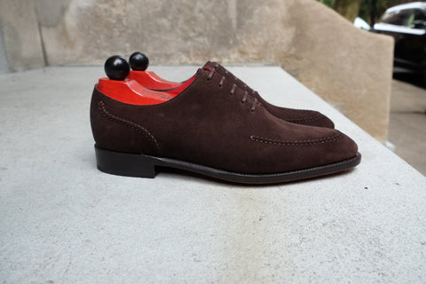 Whittier - MTO - Bitter Chocolate Suede - SEA Last - Single Leather Sole