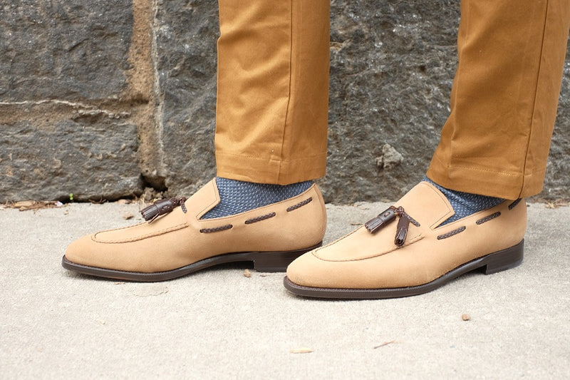 Eskapa - Oatmeal Suede / Dark Brown Museum Calf