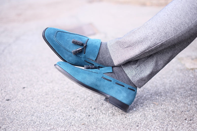 Eskapa - Teal Suede / Black Calf
