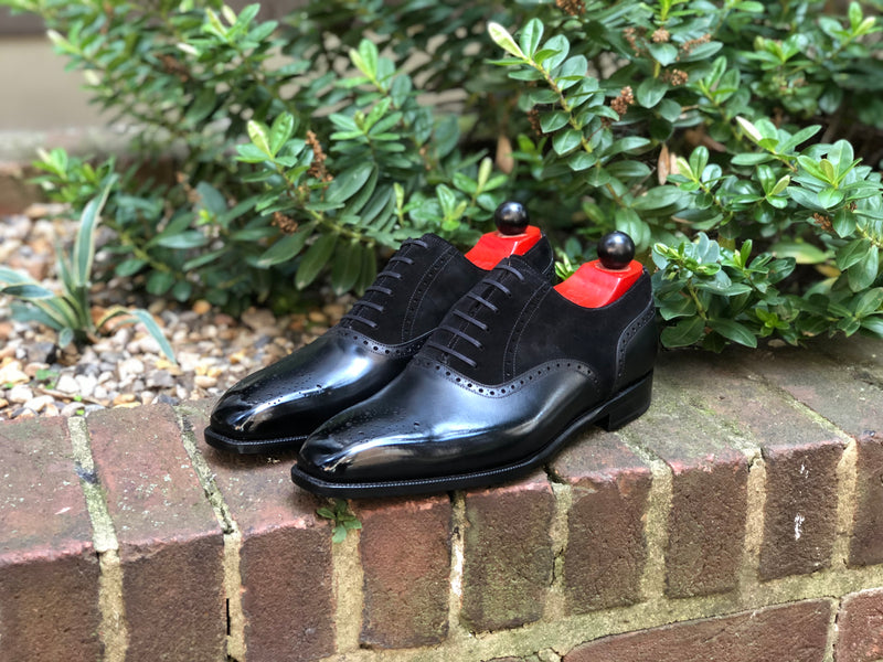 Wallingford - MTO - Black Calf / Black Suede - MGF Last - Single Leather Sole