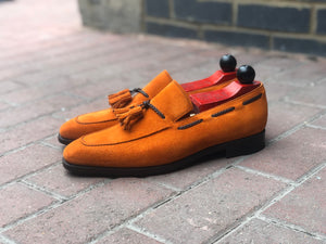 Eskapa - MTO - Orange Suede - LPB Last - Single Leather Sole