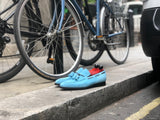 Eskapa - MTO - Sky Blue Suede - LPB Last - Single Leather Sole