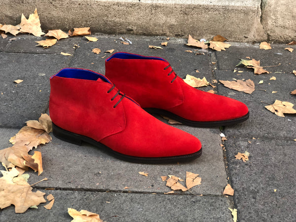 Ballard - MTO - Red Suede - TMG Last - City Rubber Sole