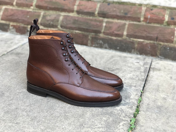 Bremerton - MTO - Brown Country Calf - TMG Last - Double City Rubber Sole