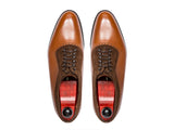 Mukilteo - MTO - Tan Grain / Dark Brown Suede - TMG Last - Single Leather Sole