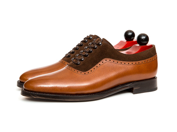 Broadmoor - MTO - Tan Grain / Dark Brown Suede - TMG Last