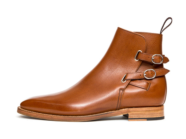 Genesee - MTO - Tan Soft Grain - MGF Last - Natural Single Leather Sole