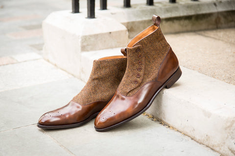 Westlake GMTO - Copper Museum Calf / Gold Tweed - NGT Last