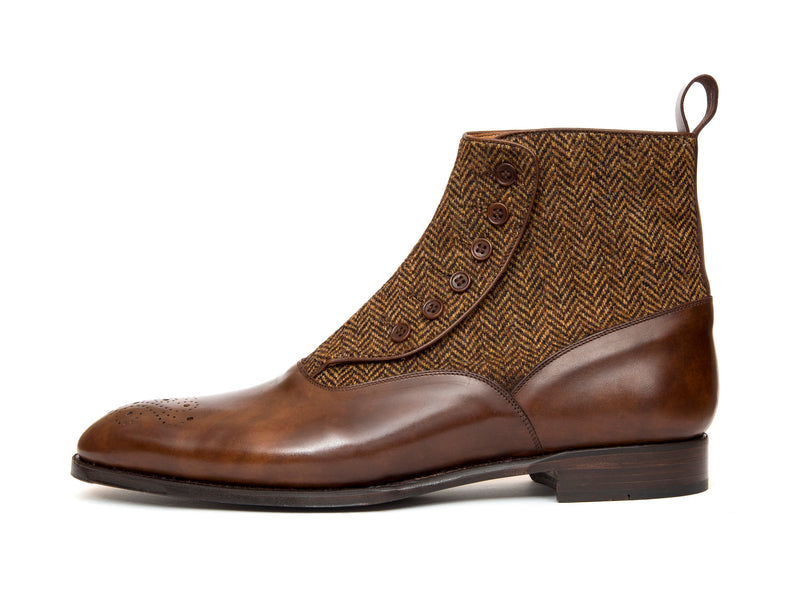 Westlake - MTO - Copper Museum Calf / Gold Tweed - NGT Last - Single Leather Sole