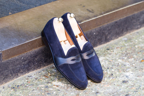 Madison GMTO - Navy Suede / Shaded Navy Calf - TMG Last