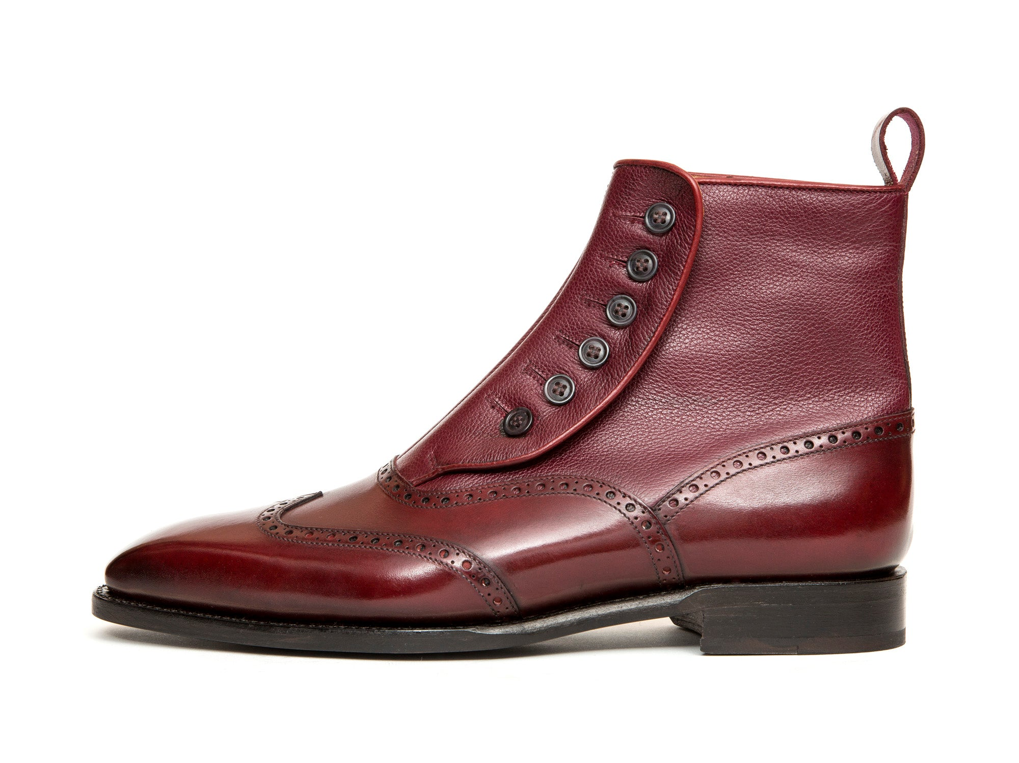 Grandview - MTO - Burgundy Calf / Burgundy Soft Grain - MGF Last - Single Leather Sole