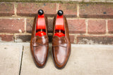 Hawthorne - MTO - Walnut Museum Calf - TMG Last - Single Leather Sole