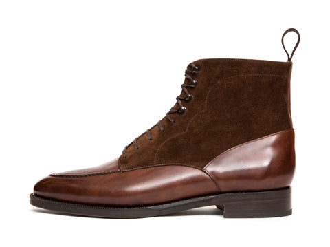 Bremerton - MTO - Walnut Museum Calf / Dark Brown Suede - TMG Last - Double Leather Sole