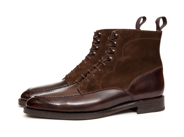 Bremerton - MTO - Dark Brown Museum Calf / Dark Brown Suede - TMG Last - Double Leather Sole
